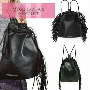 Victoria Secret Vegan Fringe Backpack Purse